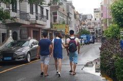 Shenzhen, China: o tráfego da vila na cidade Imagens de Stock