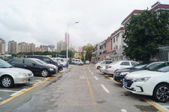 Shenzhen, China: o tráfego da vila na cidade Fotos de Stock Royalty Free