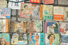 Shenzhen, China: old magazines and books sales Stock Image