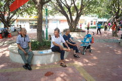 Shenzhen, China: the old people in the park Stock Images