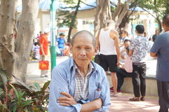 Shenzhen, China: the old people in the park Stock Image