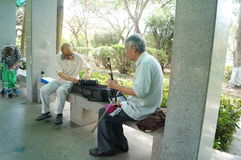 Shenzhen, China: old people singing opera Stock Photos