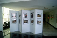 Shenzhen, China: old photo exhibition Stock Images