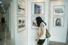 Shenzhen, China: old photo exhibition Royalty Free Stock Image