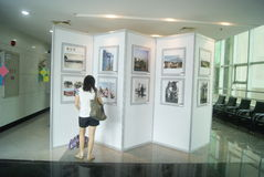 Shenzhen, China: old photo exhibition Stock Photos