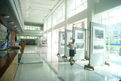 Shenzhen, China: old photo exhibition Stock Photography