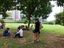 Shenzhen, China: openluchtactiviteiten voor jonge mannen en vrouwen Stock Foto