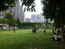 Shenzhen, China: openluchtactiviteiten voor jonge mannen en vrouwen Stock Fotografie