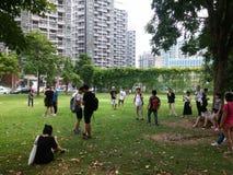 Shenzhen, China: openluchtactiviteiten voor jonge mannen en vrouwen Stock Afbeeldingen