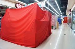 Shenzhen, China: Oudejaarsavond, vroeg gesloten winkels Stock Foto's