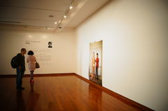Shenzhen, China: Overseas Chinese Women Artists Works Exhibition Stock Photography