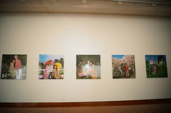 Shenzhen, China: Overseas Chinese Women Artists Works Exhibition Royalty Free Stock Photography