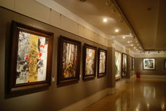 Shenzhen, China: painting and calligraphy exhibition Stock Images