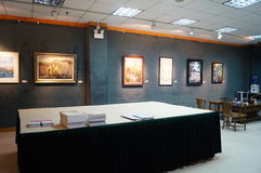 Shenzhen, China: Painting Works Exhibition Royalty Free Stock Photo