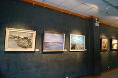 Shenzhen, China: Painting Works Exhibition Stock Image