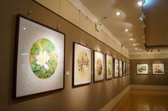 Shenzhen, China: Painting Works Exhibition Royalty Free Stock Images