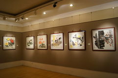 Shenzhen, China: Painting Works Exhibition Stock Photography