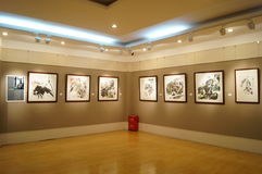 Shenzhen, China: Painting Works Exhibition Royalty Free Stock Photos