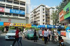 Shenzhen, China: Paisagem da rua comercial Imagens de Stock Royalty Free