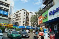 Shenzhen, China: Paisaje de la calle comercial Foto de archivo