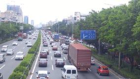 Shenzhen, China: Paisaje del coche del camino del nacional 107 Fotografía de archivo libre de regalías