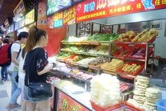 Shenzhen, China: paisaje delicioso de la calle de la comida Imagenes de archivo