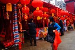 Shenzhen, China: para hacer frente al mercado de la flor del festival de primavera Foto de archivo libre de regalías