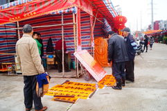 Shenzhen, China: para hacer frente al mercado de la flor del festival de primavera Fotografía de archivo libre de regalías