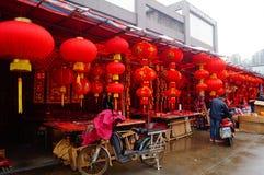 Shenzhen, China: para hacer frente al mercado de la flor del festival de primavera Imagen de archivo libre de regalías