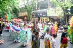 Shenzhen, China: parade activities Stock Images