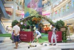 Shenzhen, China: parent-child activities Royalty Free Stock Photo