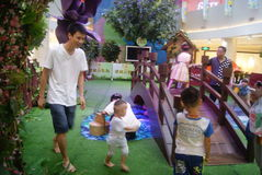 Shenzhen, China: parent-child activities Royalty Free Stock Image