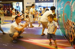 Shenzhen, China: parent child activity Stock Photos