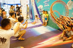 Shenzhen, China: parent child activity Royalty Free Stock Images