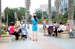 Shenzhen, China: parents and children together to relax and play Royalty Free Stock Photography