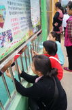 Shenzhen, China: parents of kindergarten outside Royalty Free Stock Image
