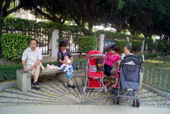 Shenzhen china: the park of leisure for the elderly and children Royalty Free Stock Photo