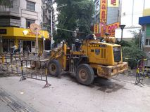 Shenzhen, China: pavement construction Stock Images