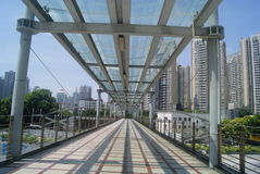 Shenzhen, China: pedestrian bridge Stock Photo