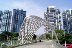 Shenzhen china: pedestrian overpass Stock Photos