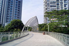 Shenzhen china: pedestrian overpass Stock Images