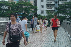 Shenzhen, China: pedestrian visitors Royalty Free Stock Image