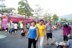 Shenzhen china: people in baoan food festival Stock Images