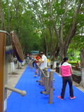 Shenzhen, China: people in the community park to exercise the body Stock Photos