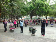 Shenzhen, China: people dance and exercise Stock Photos