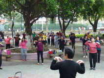 Shenzhen, China: people dance and exercise Stock Photography