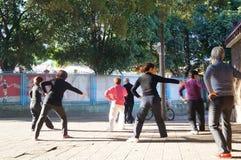 Shenzhen, China: People dancing workout Stock Photography