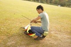 Shenzhen, China: people flying kites Stock Photography