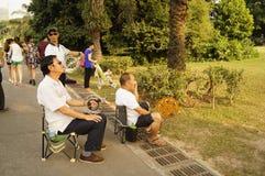 Shenzhen, China: people flying kites Royalty Free Stock Photos