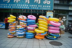 Shenzhen, China: people go to the swimming pool Stock Photos
